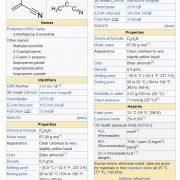 Methacrylonitrile CH2C(CH3)CN